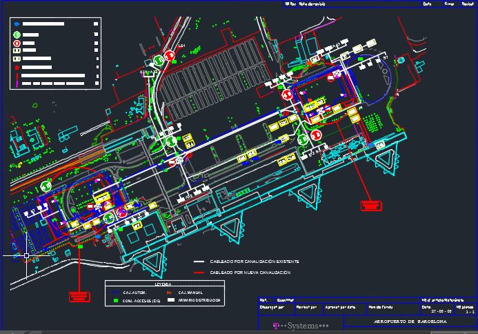 نقشه الکتریکال و مانیتورینگ فرودگاه